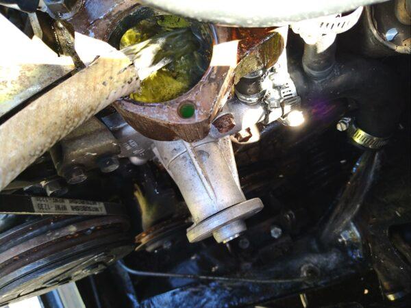 ローバーミニ1000 サンポール洗浄 エンジンブロック